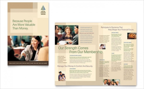 Union Banking Brochure Template