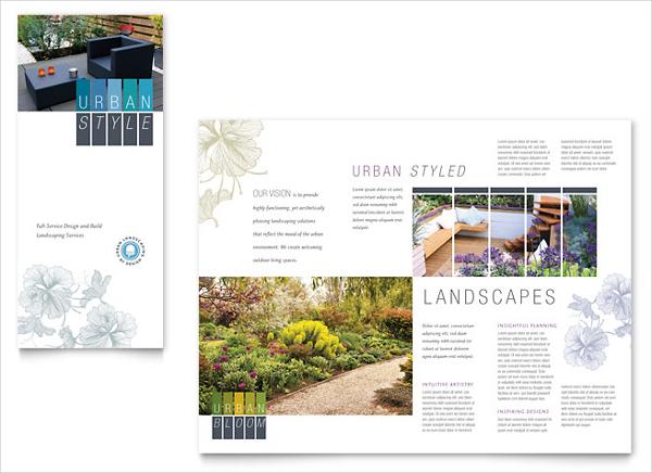 Urban Landscaping Tri Fold Brochure