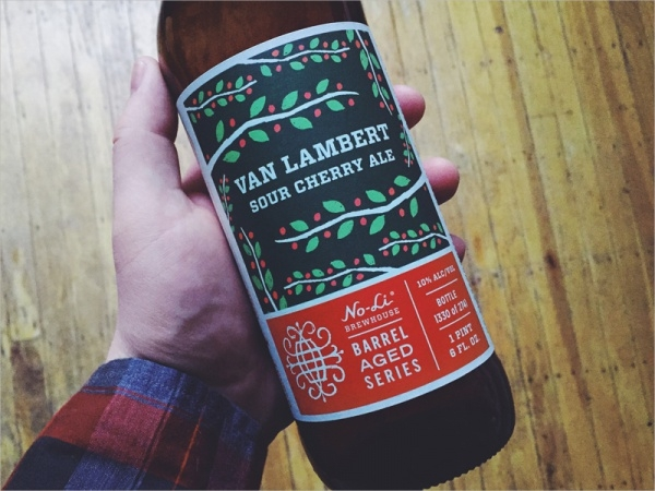 Van Lambert Sour Cherry Ale Bottle Packaging