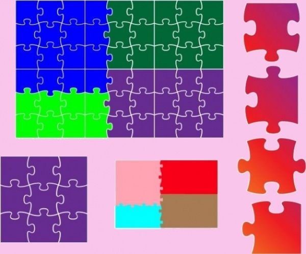 Various Puzzle Vector Designs