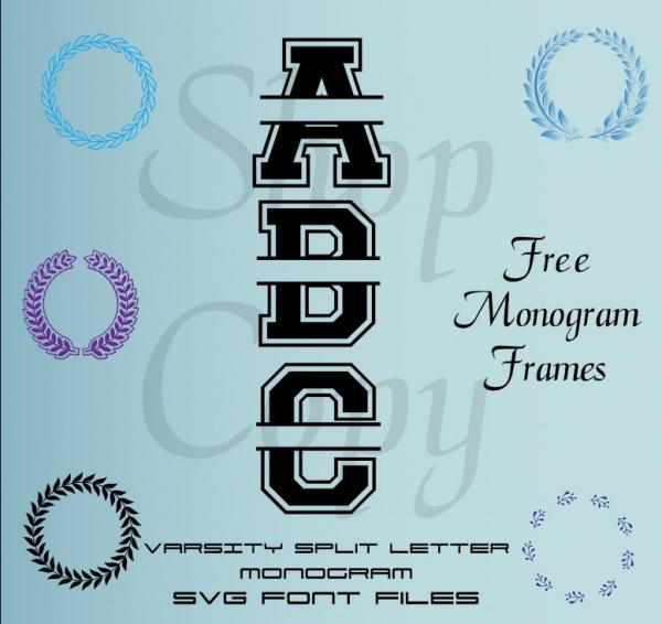 Varsity Monogram Font