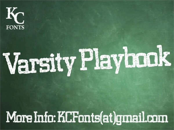 Varsity Playbook Font
