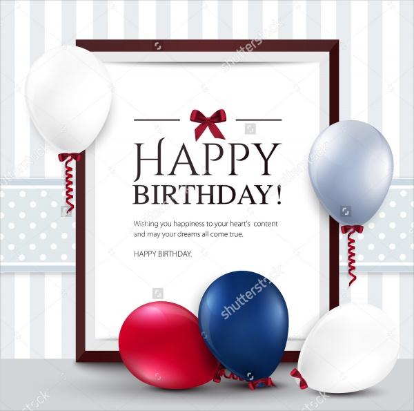 Vector Birthday Card Template