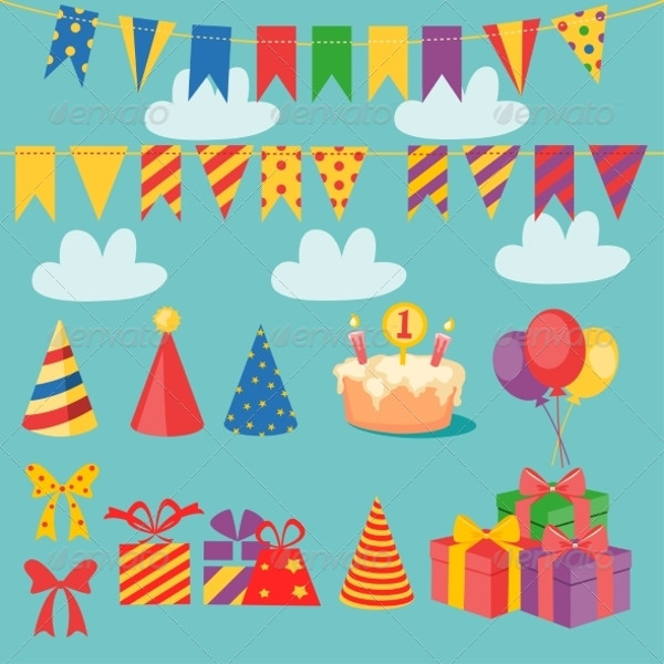 Vector Birthday Party Elements