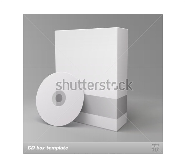 Vector CD Box Packaging Template