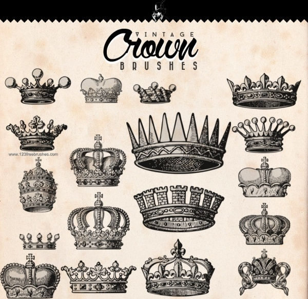 Vector Crown Brushes Pack