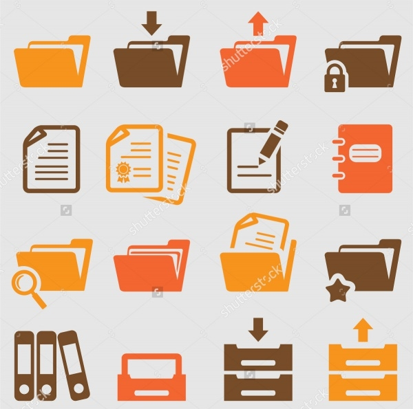 Vector Folder Icons Set
