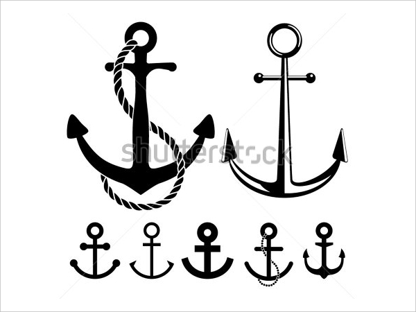 Vector Illustration of Anchor Icons