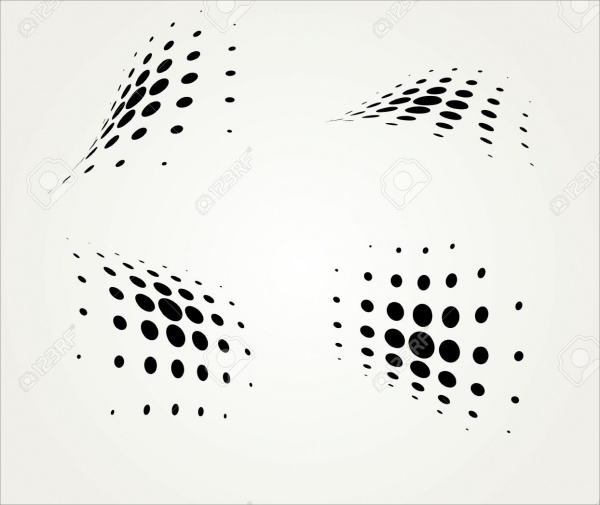 Vector Illustration of Halftone Dots