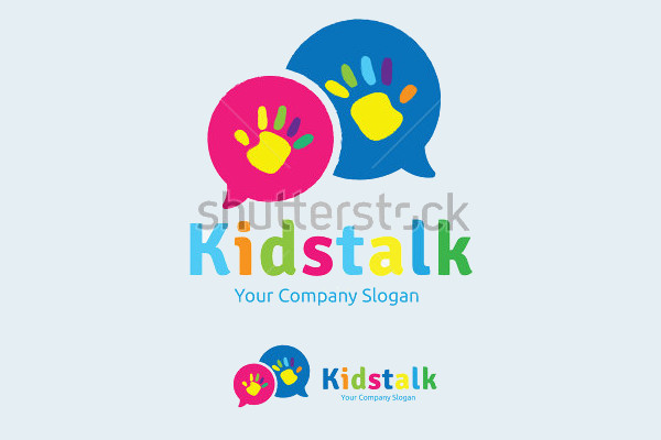 Vector Kid's Talk Logo
