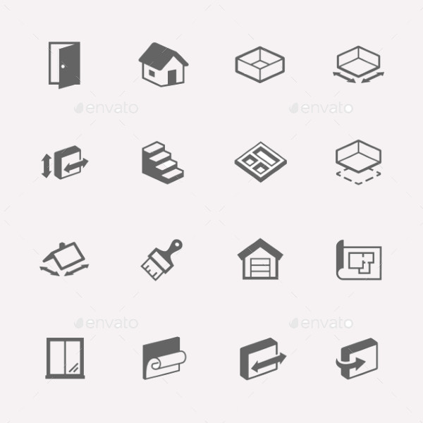 Vector Minimal House Icons
