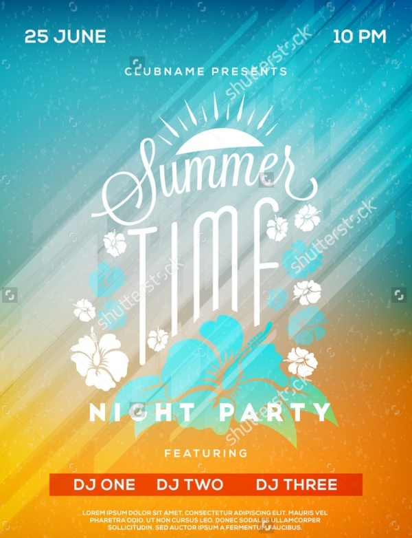 Vector Summer Landscape Flyer
