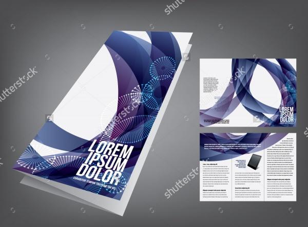 vector tri fold digital brochure