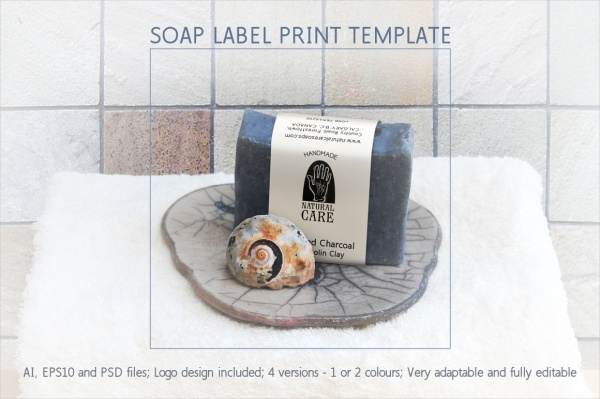 Vertical Soap Label Wrap Template