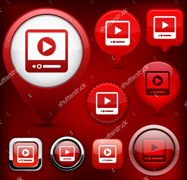 Video PSD Design Buttons