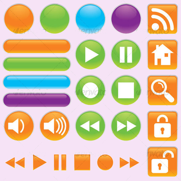 Video and Audio Player Buttons