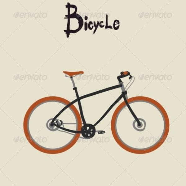 Vintage Bicycle Vector Art
