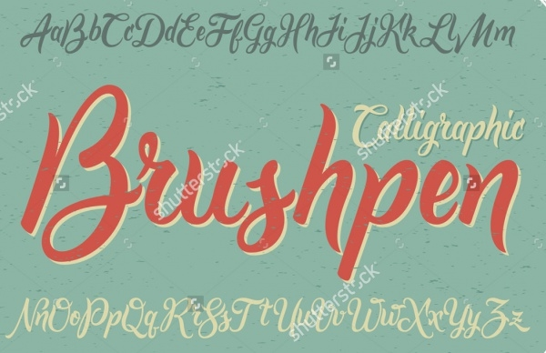 Vintage Brushpen Dirty Font