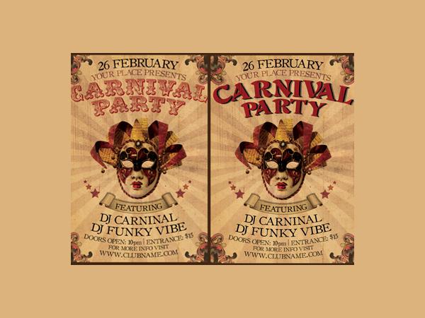 vintage carnival party flyer