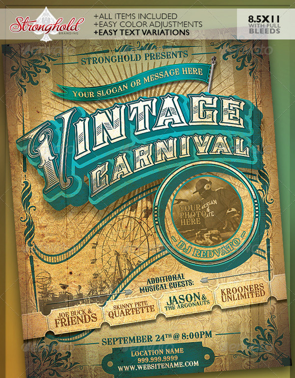 Vintage Circus Flyer Template