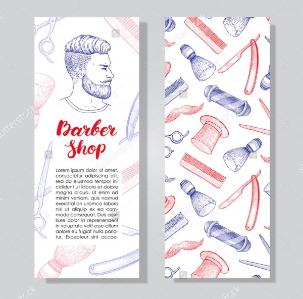 Vintage Hand drawn Barbershop Flyer