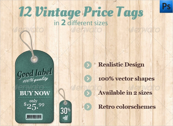 Vintage Price Tags Design