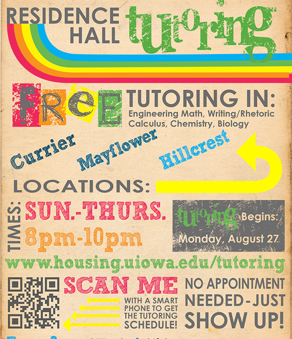 vintage residence tutoring flyer