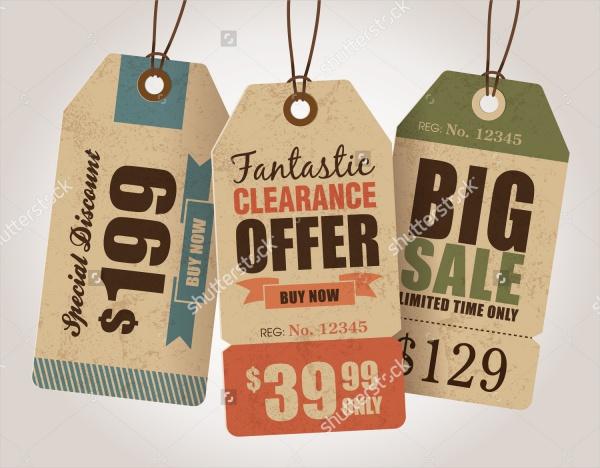 Vintage Style Sale Price Tag