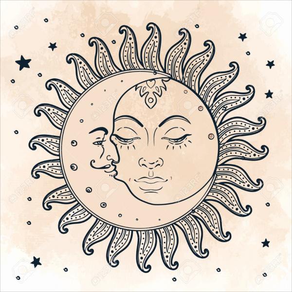 Vintage Sun Illustration