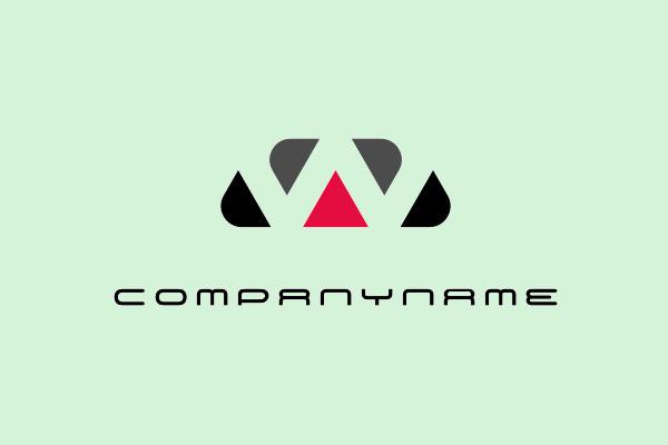 W Red Black Triangles Negative Logo