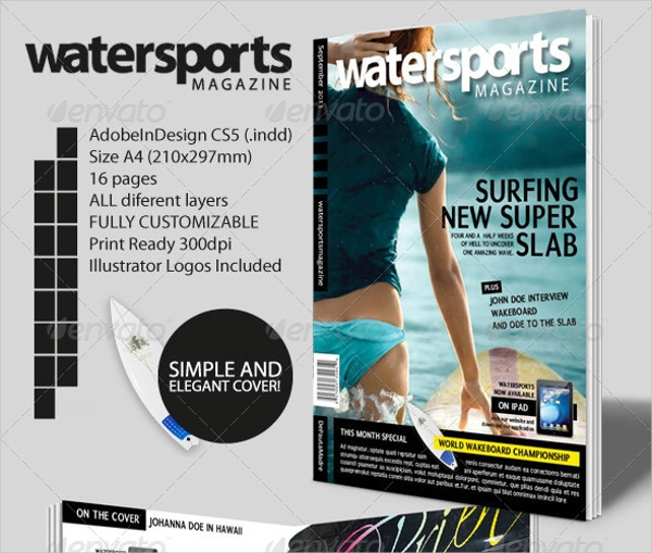 Water Sports Indesign Magazine Template