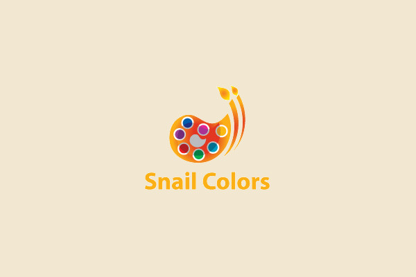 Watercolor Anails Logo Design