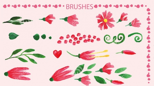 Watercolor Floral Petal Brushes