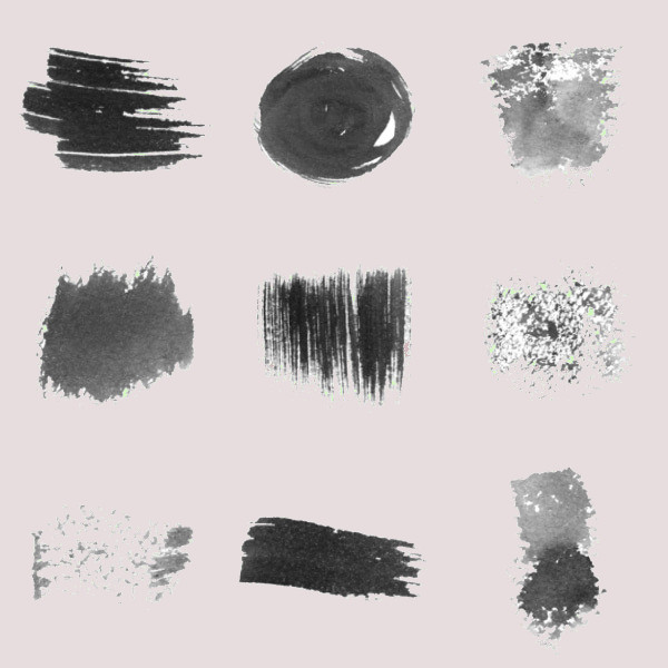 Watercolor Strokes Photoshop Brush Pack