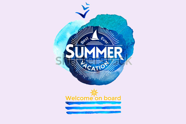 Watercolor Summer Logo for Company