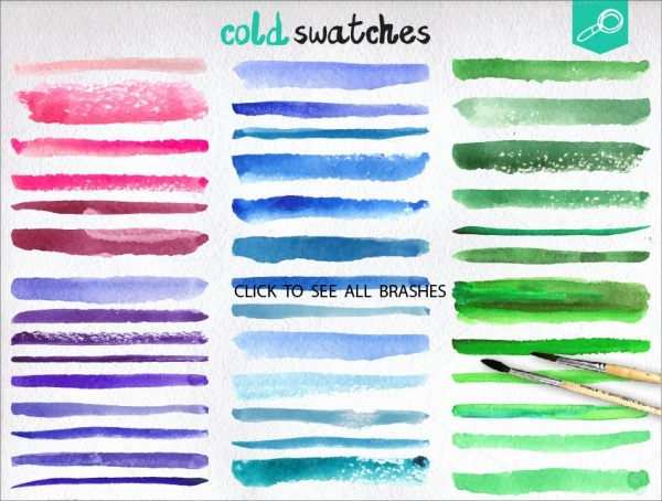 Watercolor Vector Line Brushes
