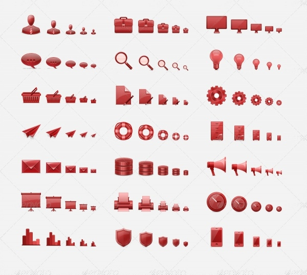 Web Or Desktop 3D Icon Set