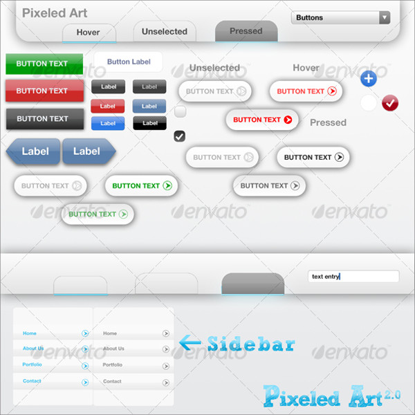 Web UI 2.0 Menus and Buttons