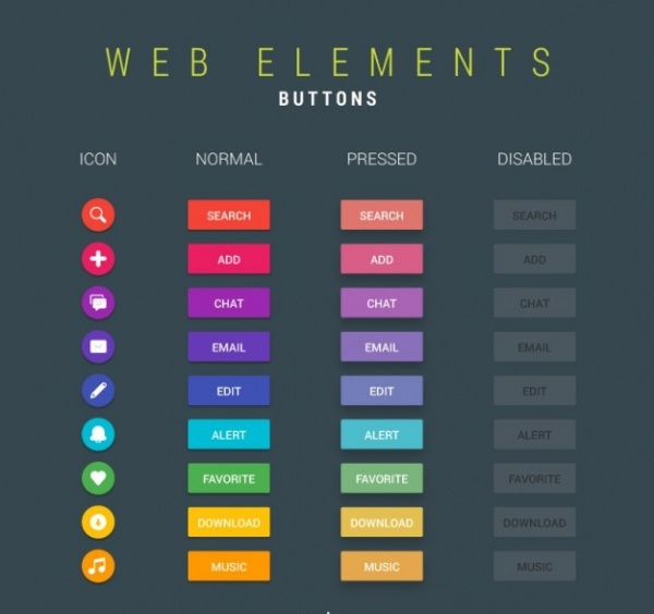Web UI Buttons Collection