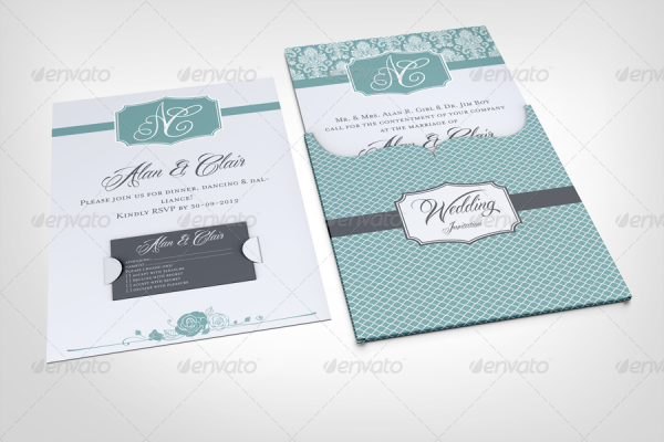Wedding Invitation Jacket Mockup