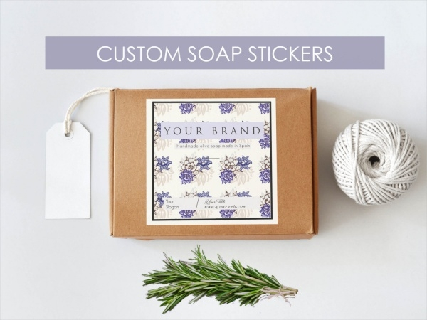 Weddings Soap Packaging Label Design