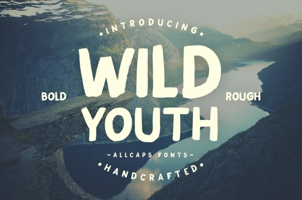 Wild Youth Typeface Adventurous Font