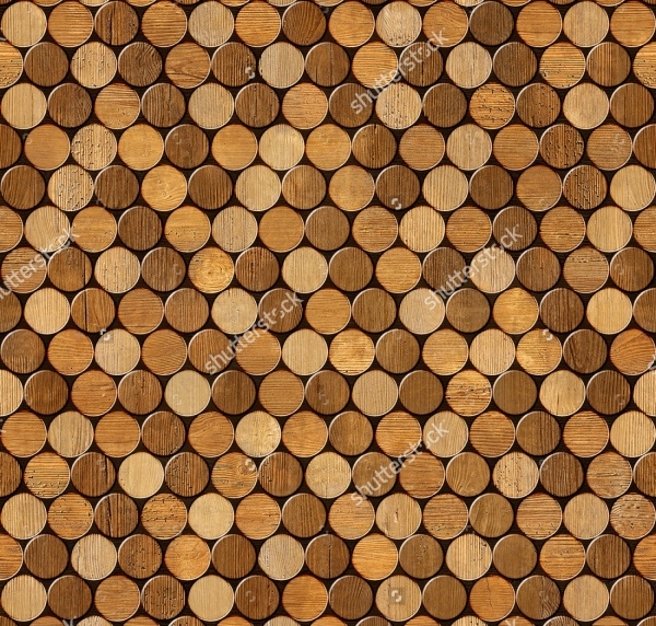 Wine Cork Wood Pattern Design