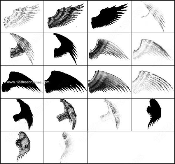 Wings Photoshop Brush Set