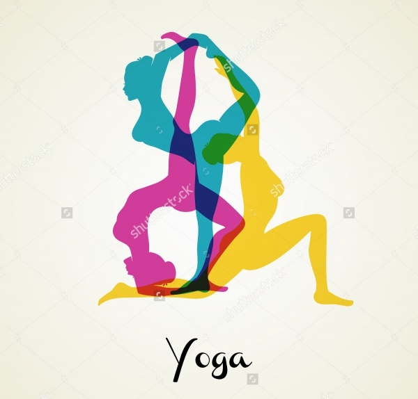 Woman Silhouette Yoga Vector