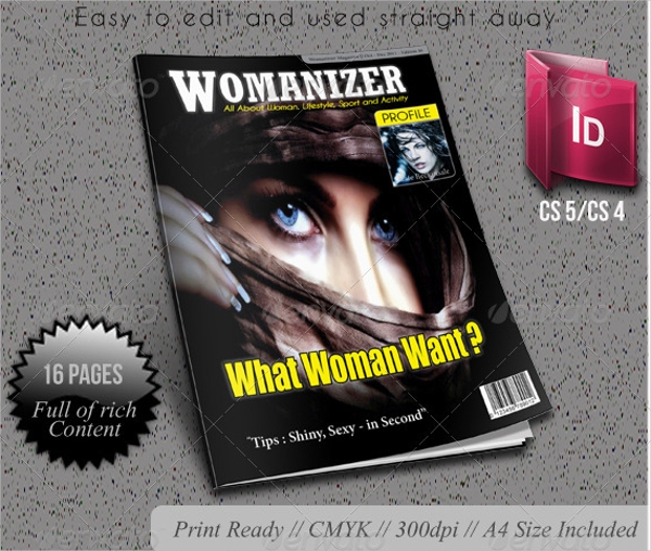 Womanizer Professional Magazine Template