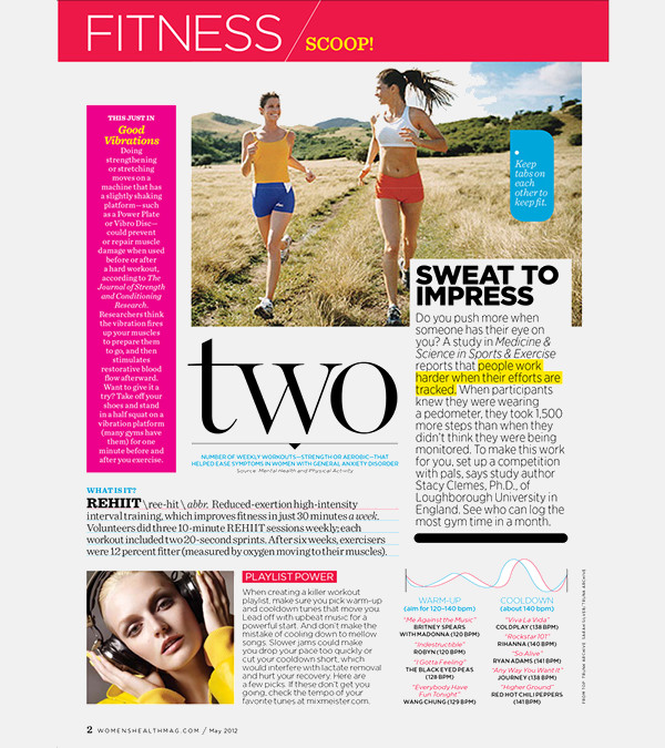 Women's Fitness Health Magazine Design