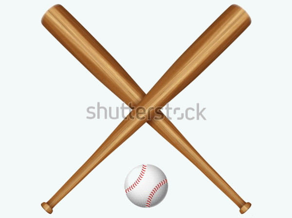 Wooden Baseball Bat Vector