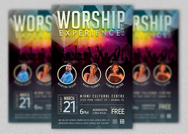 Concert Flyer Templates  Psd Vector Eps Jpg Download