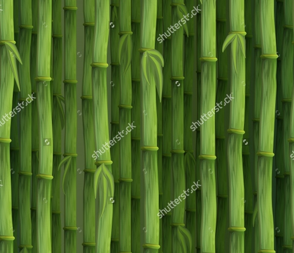 Wrapping Green Bamboo Pattern